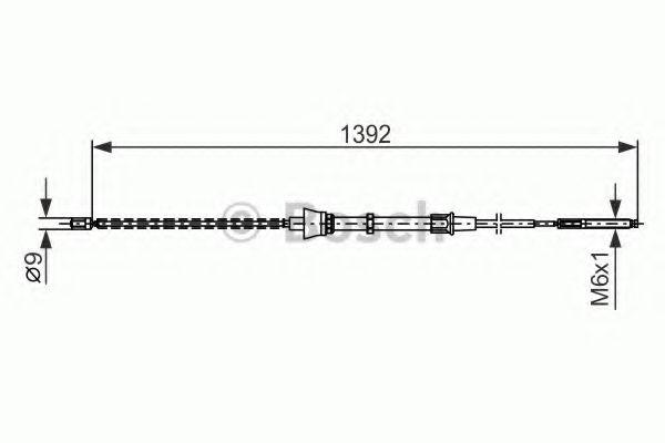 1987477680 BOSCH Трос, стояночная тормозная система