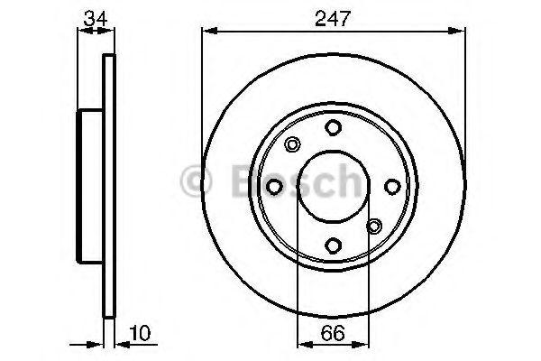 0 986 479 C54 BOSCH Тормозной диск