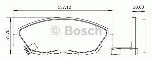 0 986 BB0 188 BOSCH Комплект тормозных колодок, дисковый тормоз