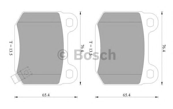 0 986 AB1 068 BOSCH Комплект тормозных колодок, дисковый тормоз