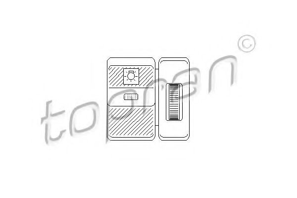 103 569 TOPRAN Switch, headlight