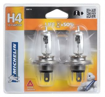 008714 MICHELIN Лампа накаливания, фара дальнего света; Лампа накаливания, основная фара; Лампа накаливания, противотуманная фара