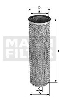 C20457 MANN-FILTER Воздушный фильтр