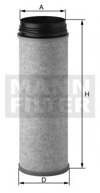 CF1651 MANN-FILTER Фильтр добавочного воздуха