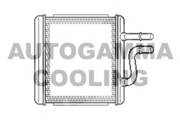 103966 AUTOGAMMA Теплообменник, отопление салона