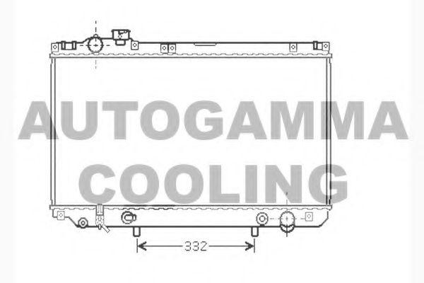104280 AUTOGAMMA Радиатор, охлаждение двигателя