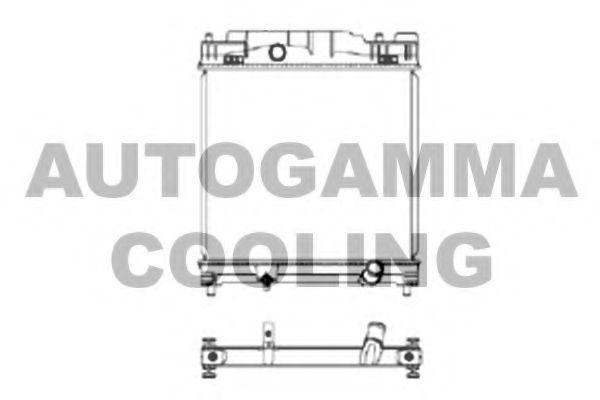 105904 AUTOGAMMA Радиатор, охлаждение двигателя