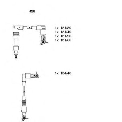 428 BREMI Комплект проводов зажигания