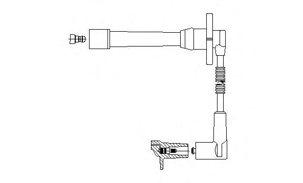 6A41E48 BREMI Провод зажигания