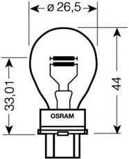 3157 OSRAM Bulb, indicator; Bulb, stop light; Bulb, rear fog light; Bulb, reverse light; Bulb, tail light