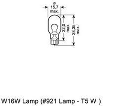 921 OSRAM Glühlampe, Blinkleuchte; Glühlampe, Brems-/Schlusslicht; Glühlampe, Bremsleuchte; Glühlampe, Nebelschlussleuchte; Glühlampe, Rückfahrleuchte; Glühlampe, Schlussleuchte; Glühlampe, Park-/Positionsleuchte; Glühlampe; Glühlampe, Positions-/Begrenzungsleuchte; Glühlampe, Positions-/Begrenzungsleuchte