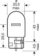 7505 OSRAM Bulb, indicator; Bulb, brake-/taillight; Bulb, stop light; Bulb, rear fog light; Bulb, reverse light; Bulb, tail light; Bulb, park-/position light; Bulb; Bulb, position-/outline lamp; Bulb, daytime running light
