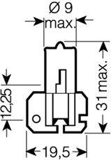 64173 OSRAM Bulb, spotlight; Bulb, headlight; Bulb, fog light; Bulb