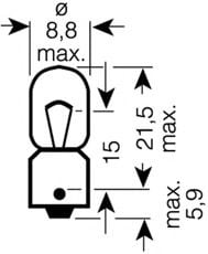 3893 OSRAM Bulb, indicator; Bulb, licence plate light; Bulb, tail light; Bulb, interior light; Bulb, boot interior light; Bulb, park-/position light; Bulb; Bulb, position-/outline lamp; Bulb, interior light; Bulb, reading light