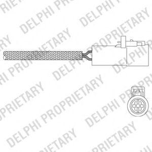 DELPHI Lambdasonde ES20321-12B1 für CHRYSLER DODGE JEEP