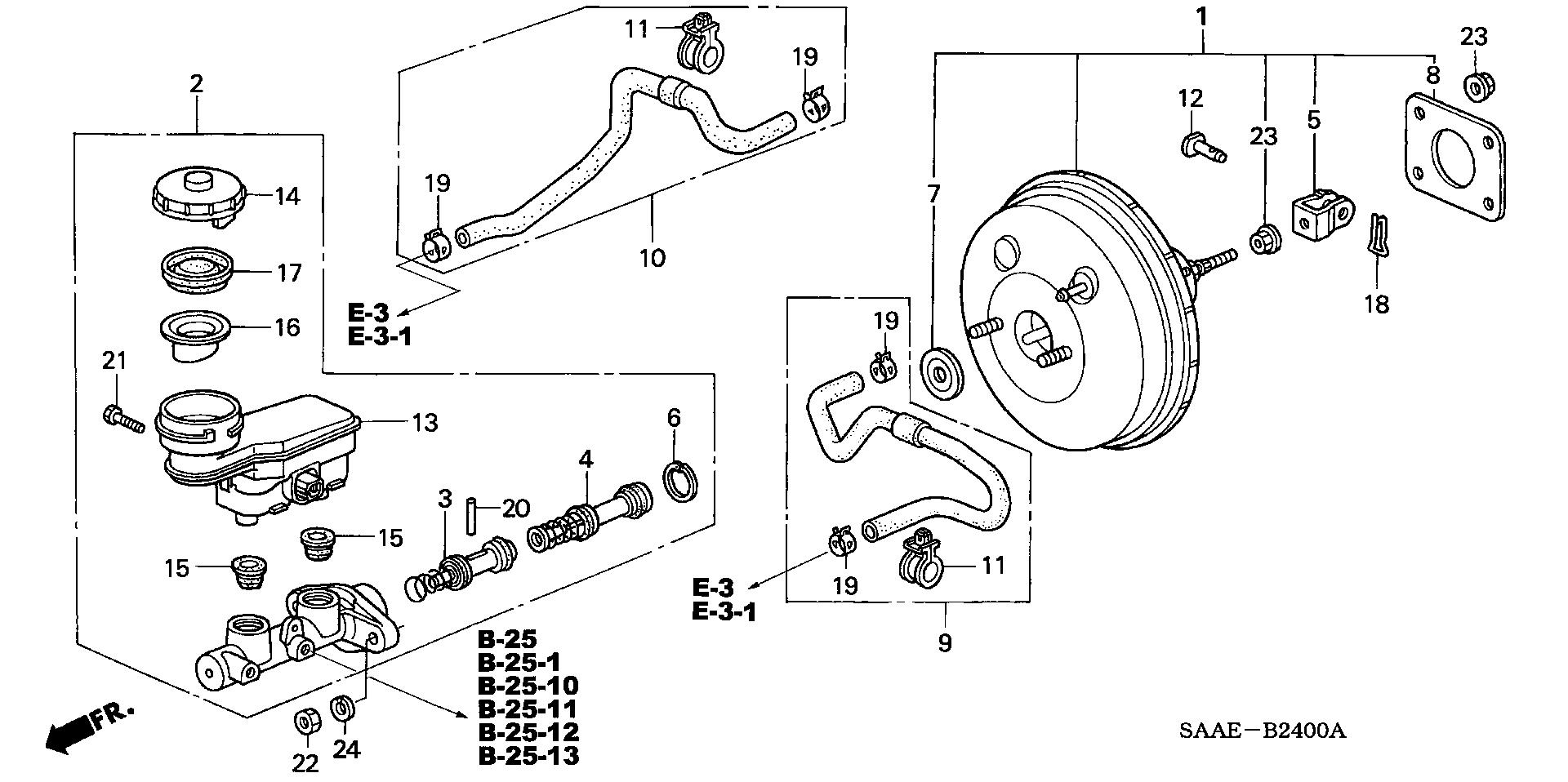 GENUINE HONDA OEM MASTER CYLINDER GASKET 46191-S2K-000