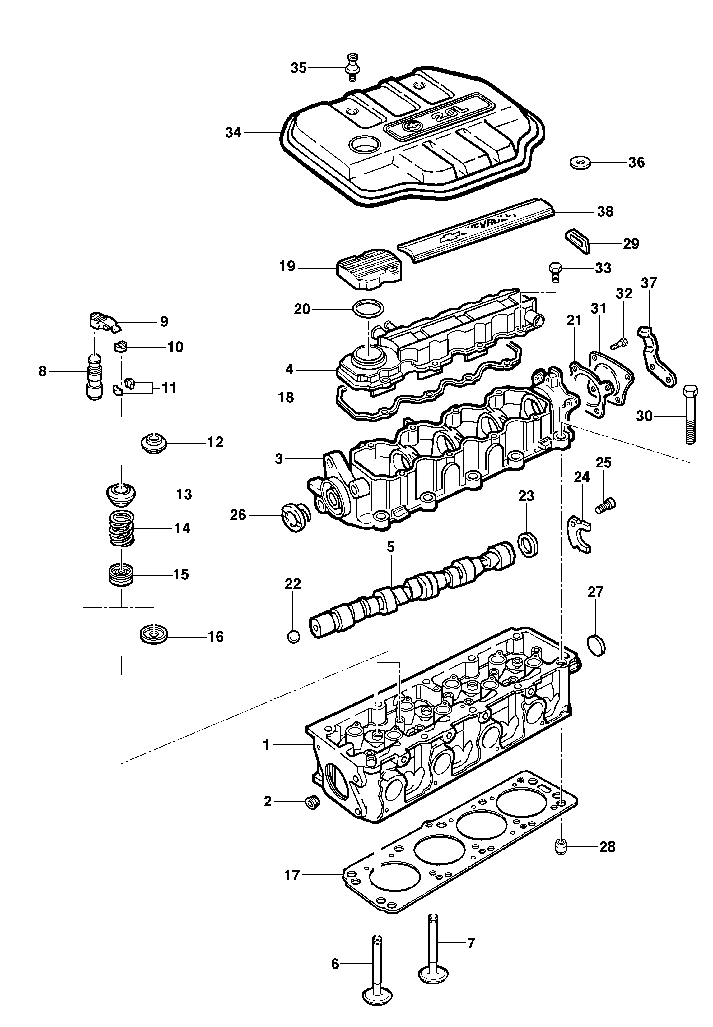 8v Engine Diagram Wiring Library Vw Mk2 Cylinder Head