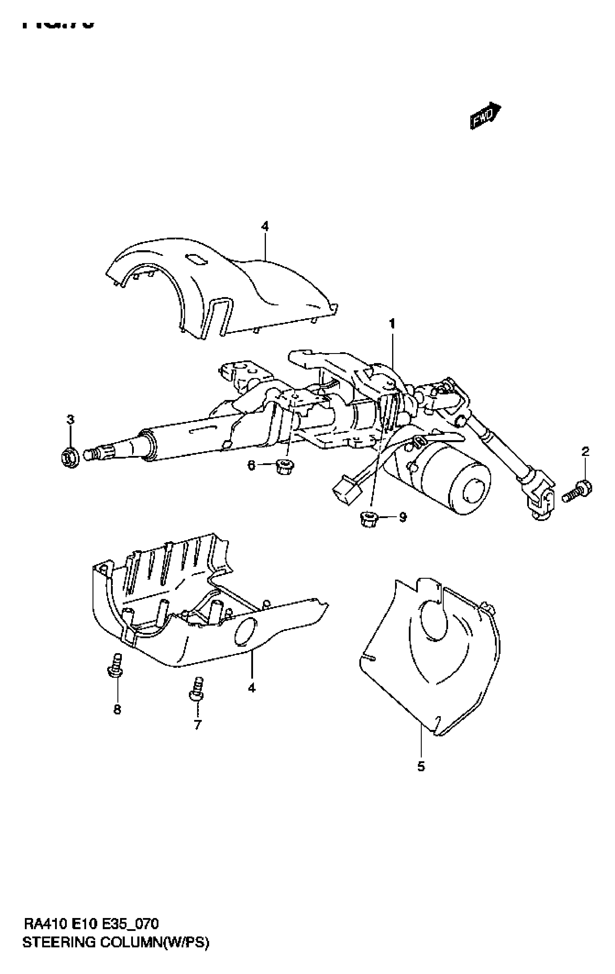 STEERING COLUMN (W/POWER STEERING)
