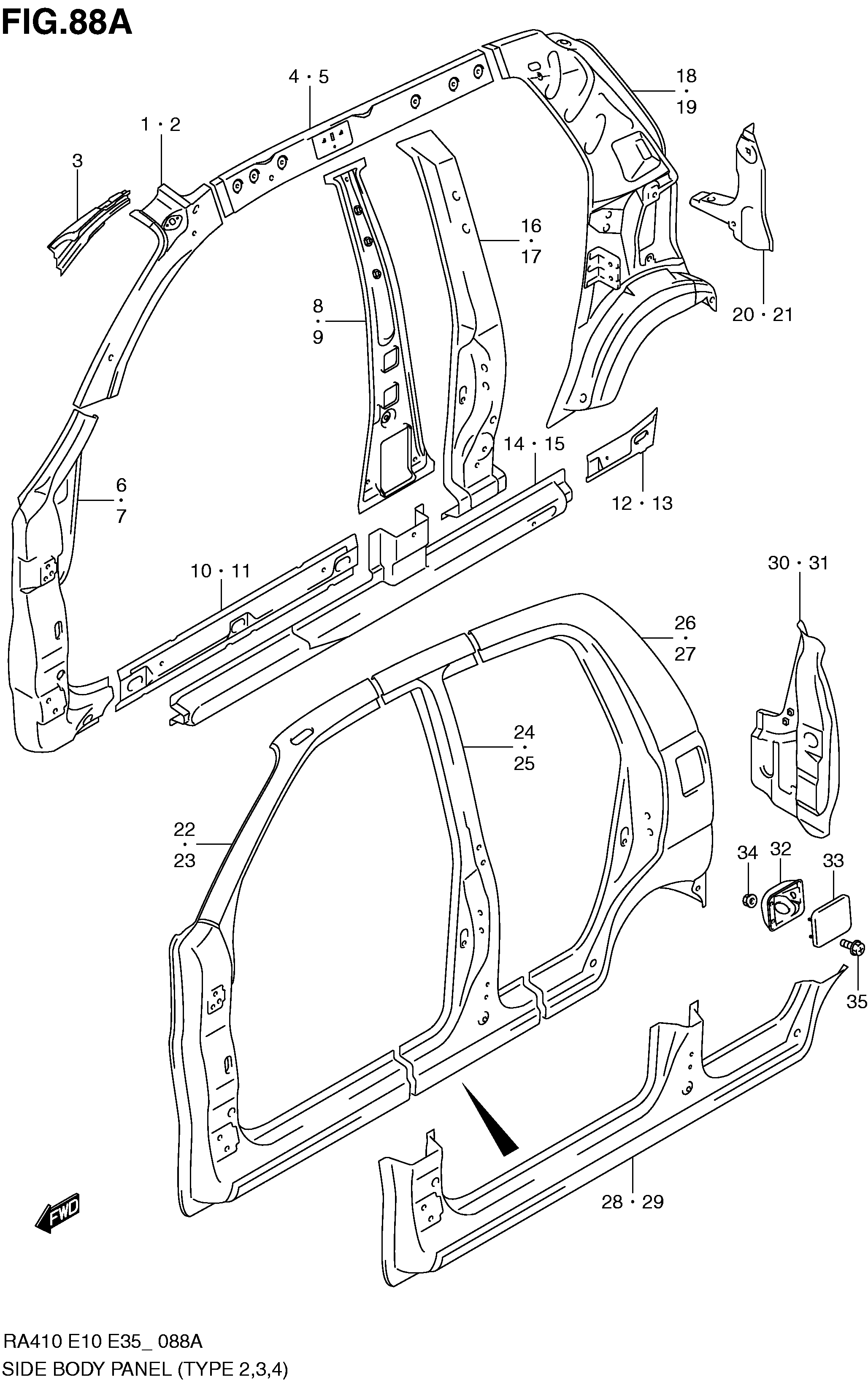 SIDE BODY PANEL (TYPE 2,3,4)