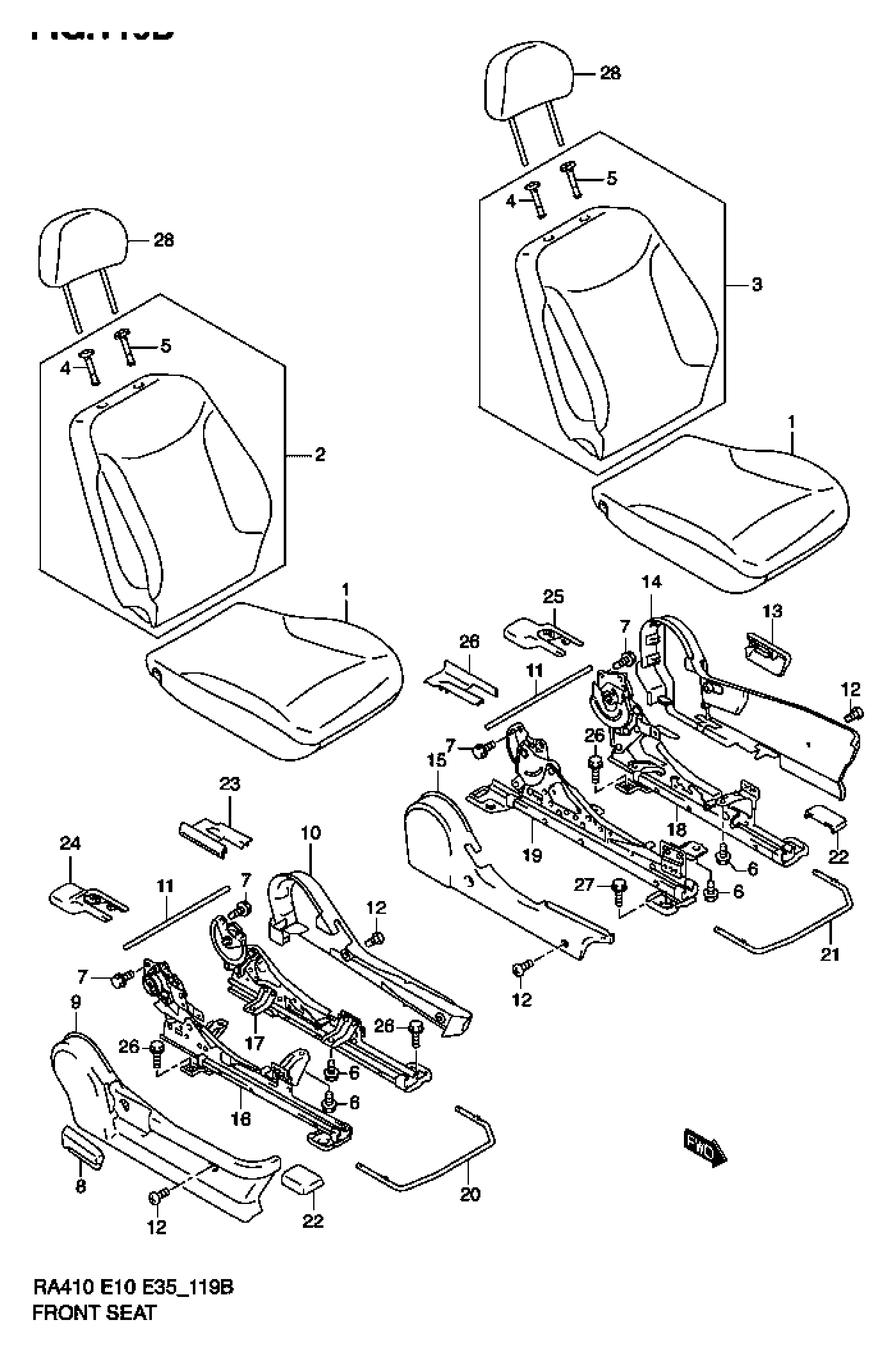 FRONT SEAT (TYPE 2,3,4)