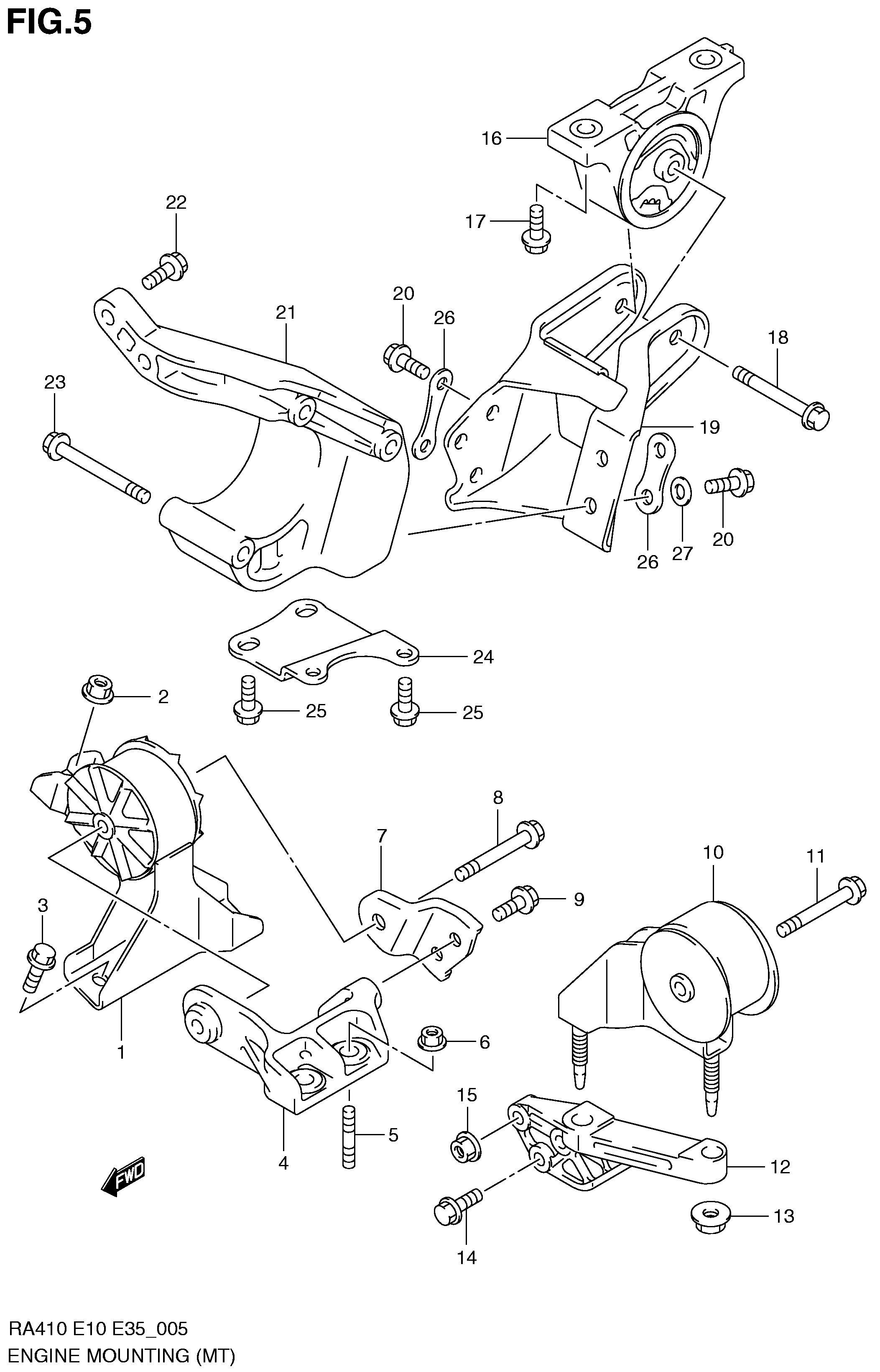 ENGINE MOUNTING (MT)