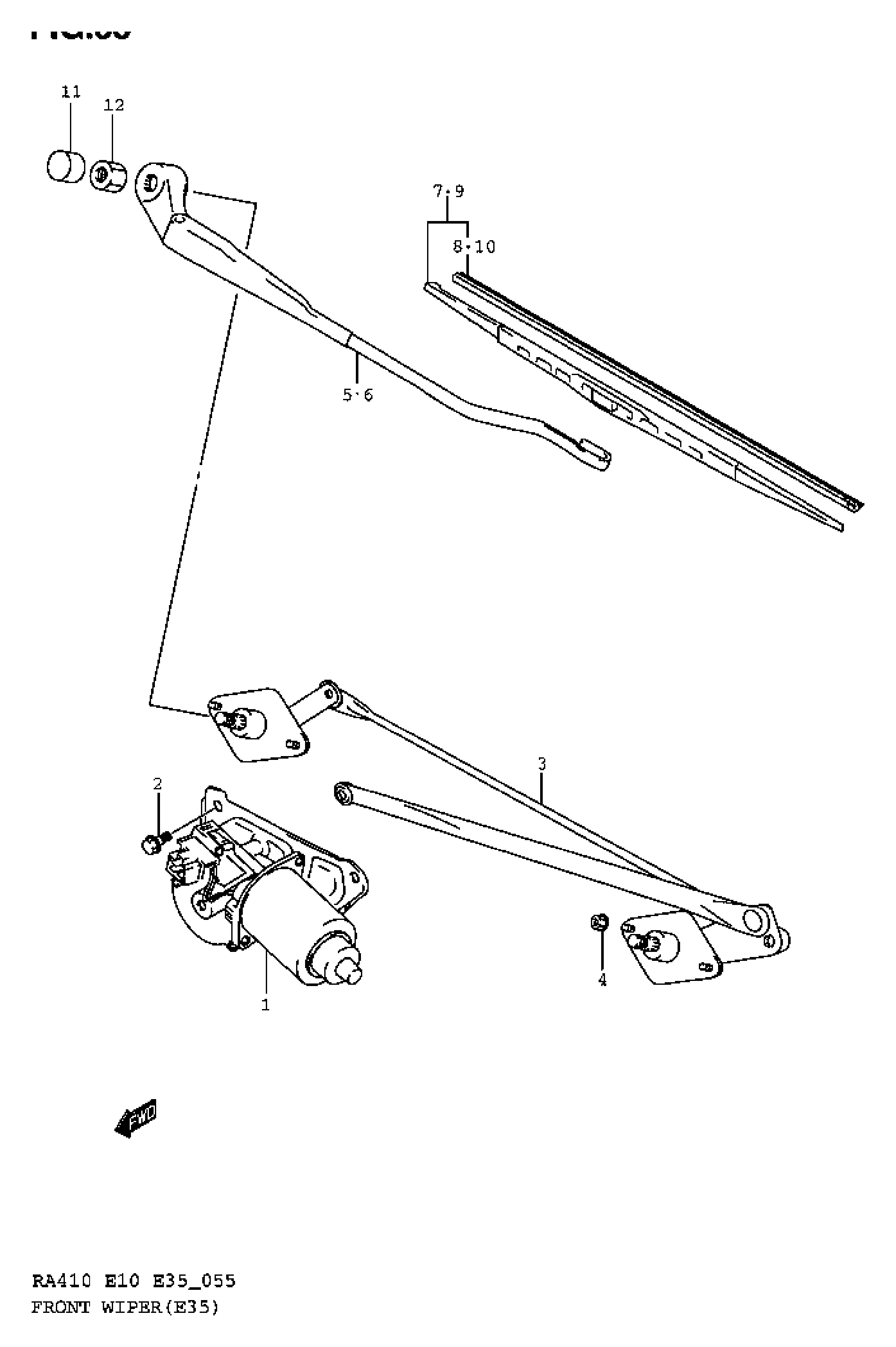 FRONT WINDOW WIPER (E35)