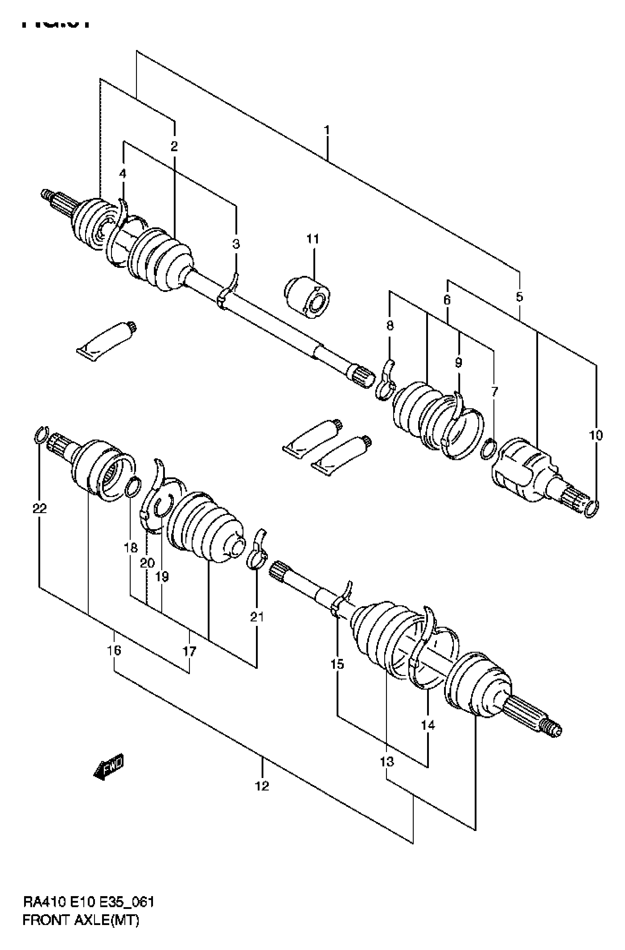 FRONT AXLE (MT)