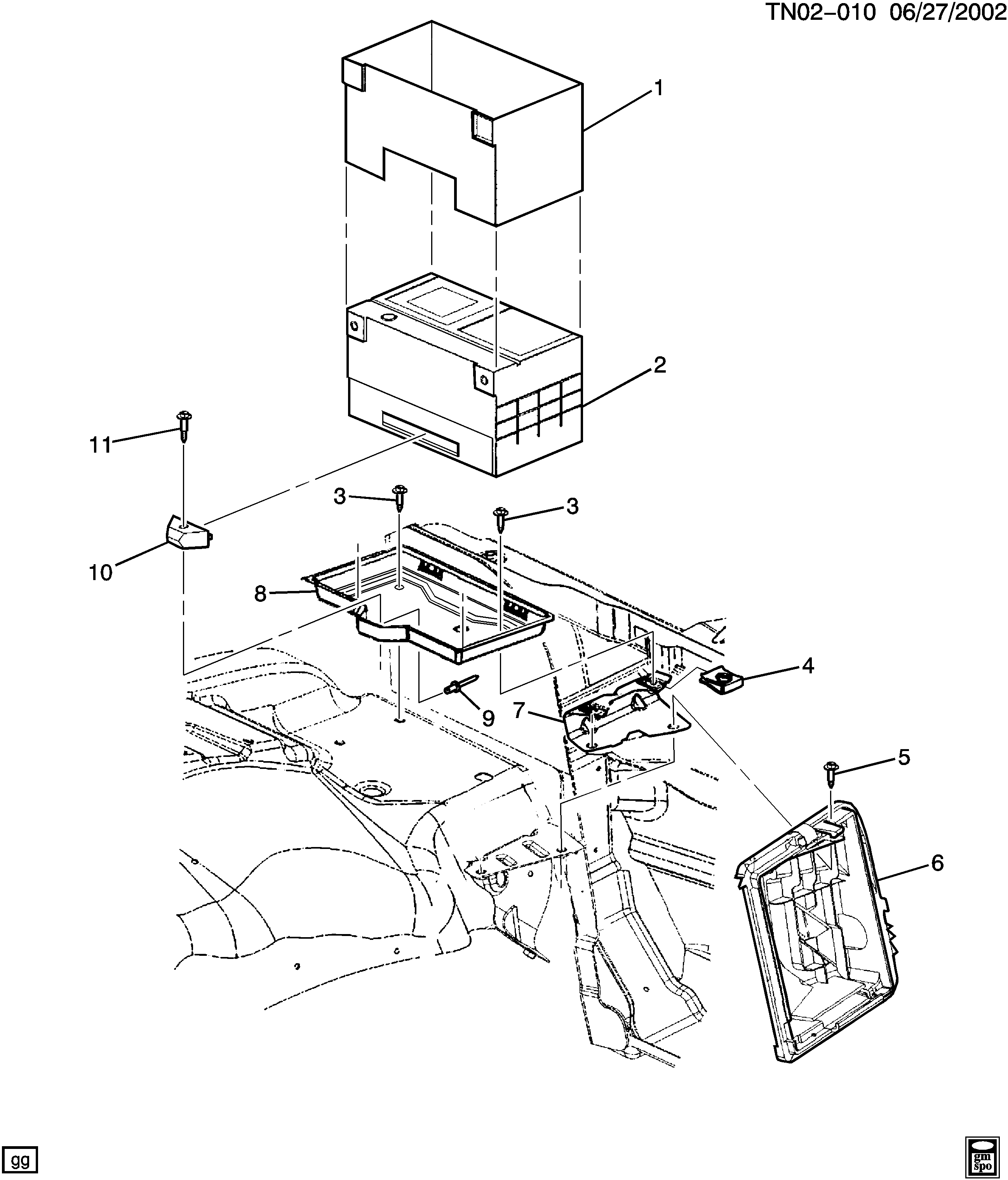 2003-2007 N2 BATTERY MOUNTING