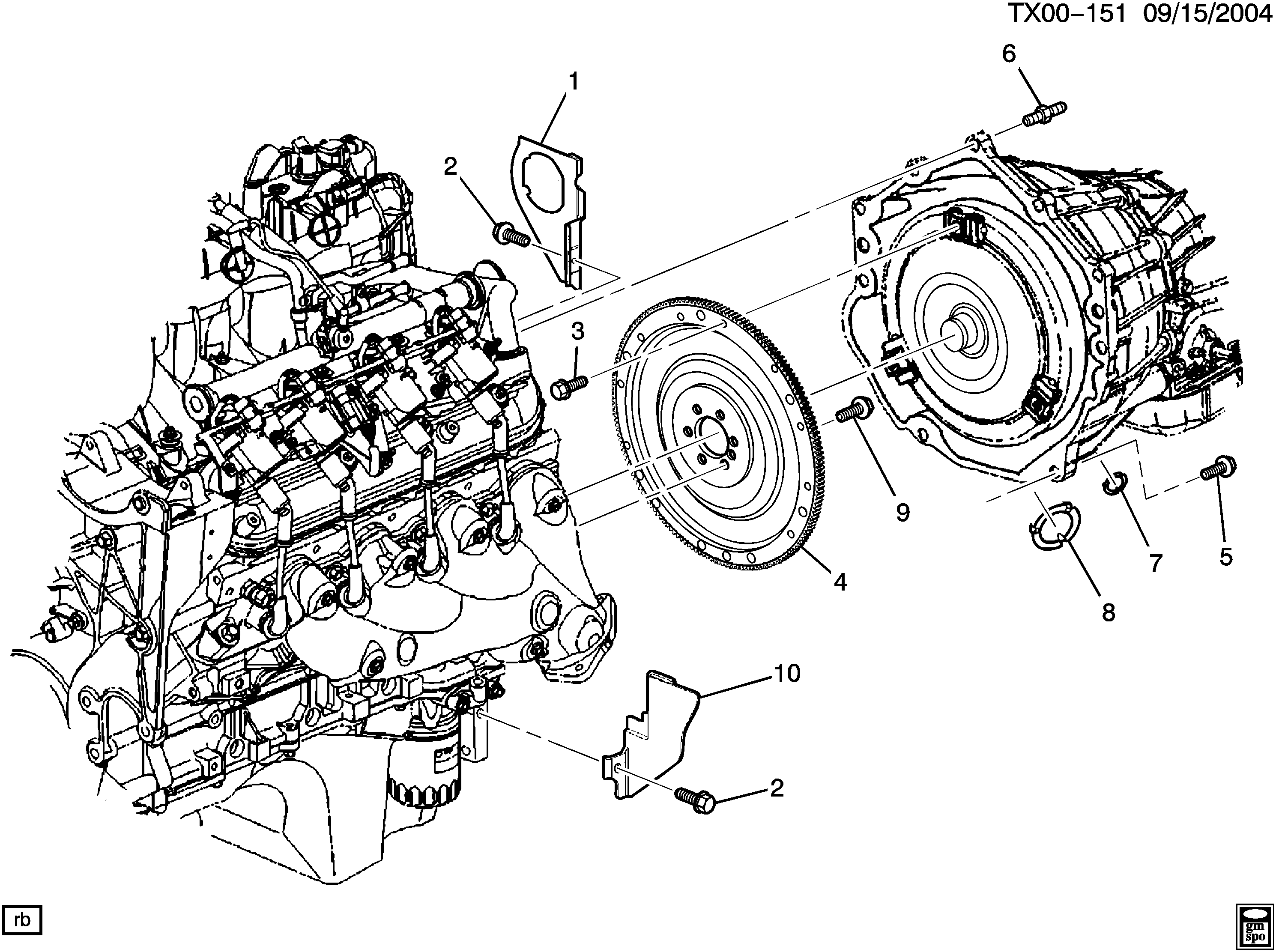 2003-2009 N2 ENGINE TO TRANSMISSION MOUNTING