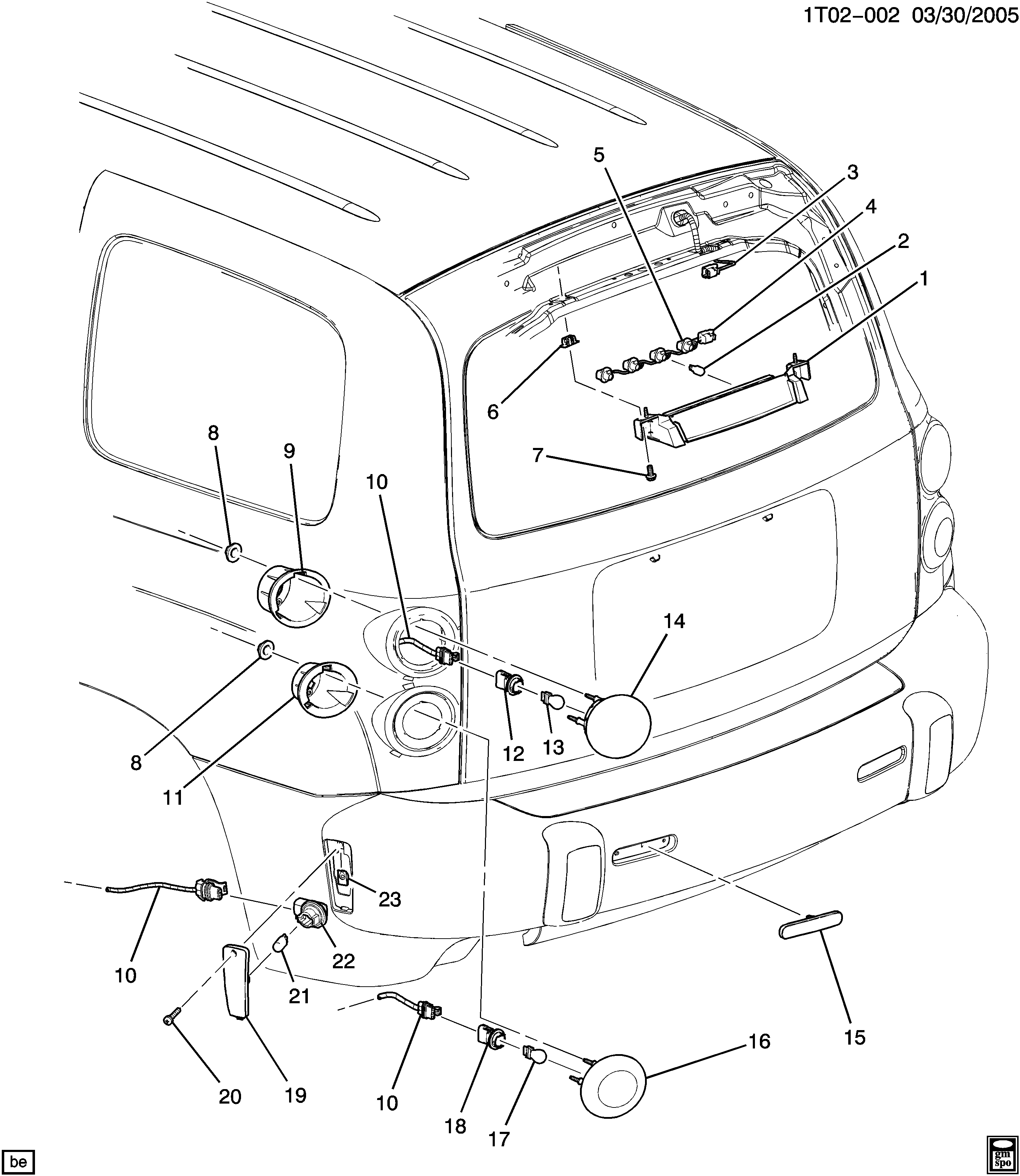 2006 2011 A Lamps Rear Chevrolet Hhr Chevy Tail Light Wiring Diagram