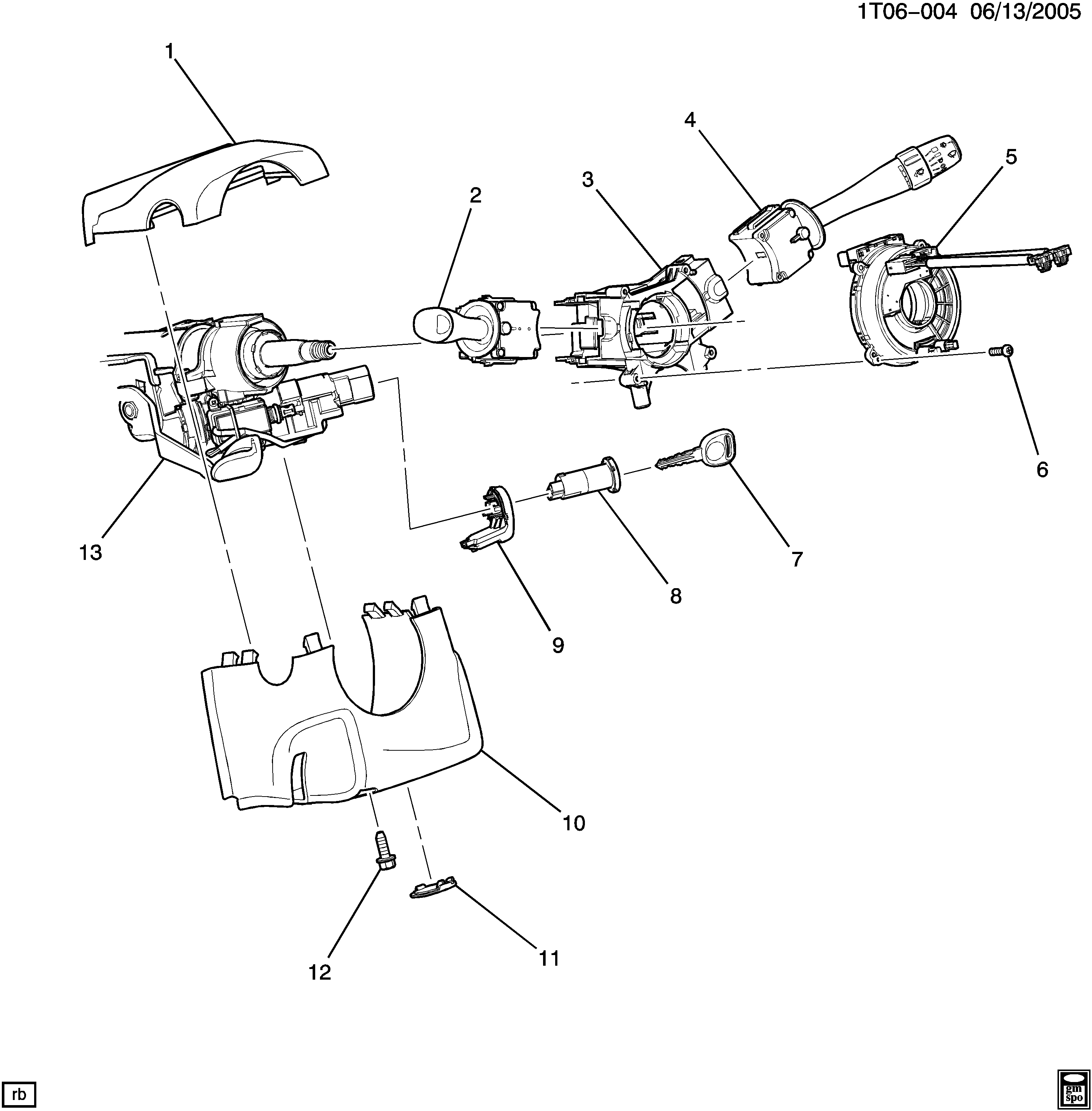 2006 Hhr Engine Diagram Wiring Library 2011 Chevy A Steering Column Part 2 Cover Switches Chevrolet