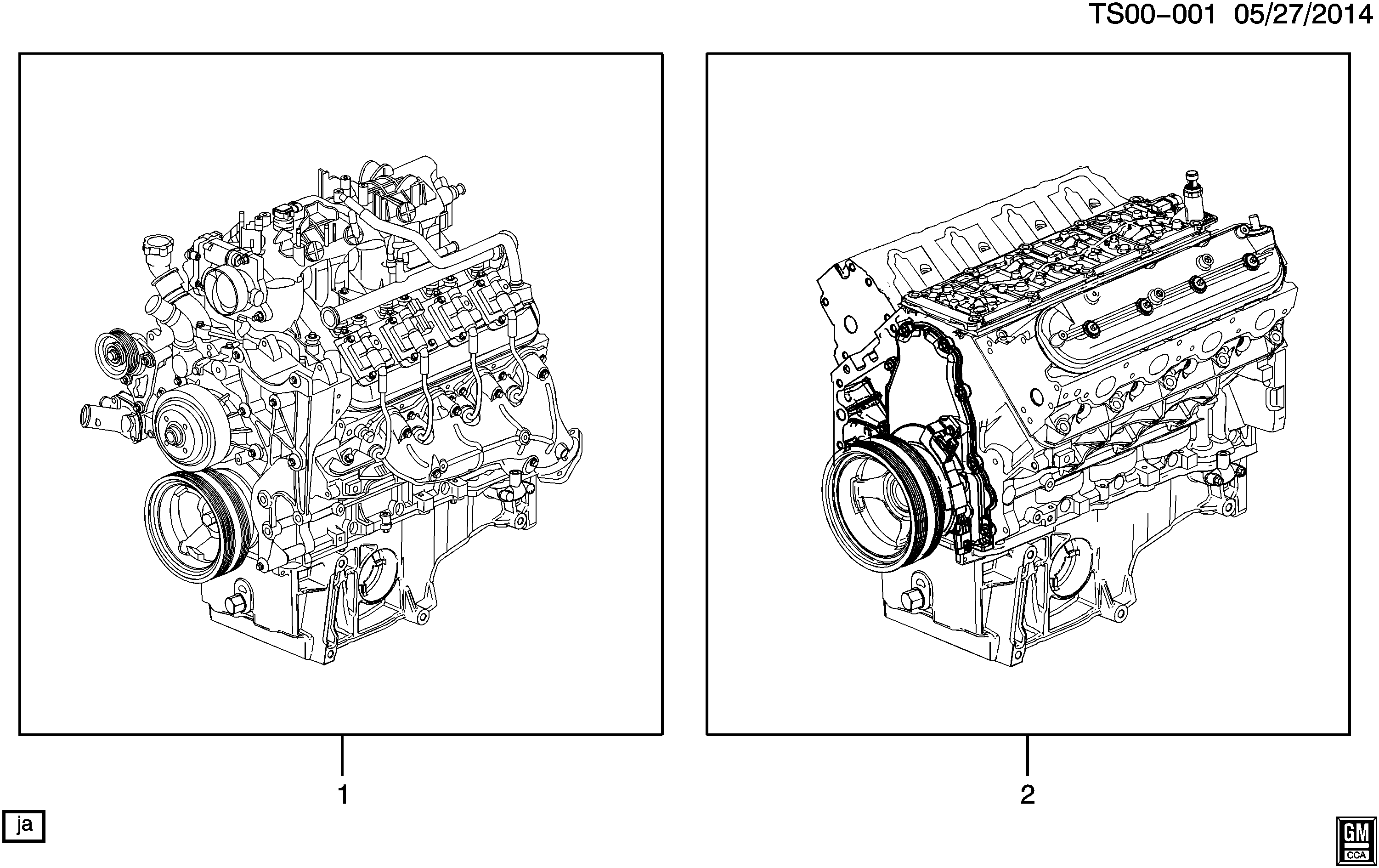 2005-2009 T1 ENGINE ASM & PARTIAL ENGINE (LH6/5.3M)