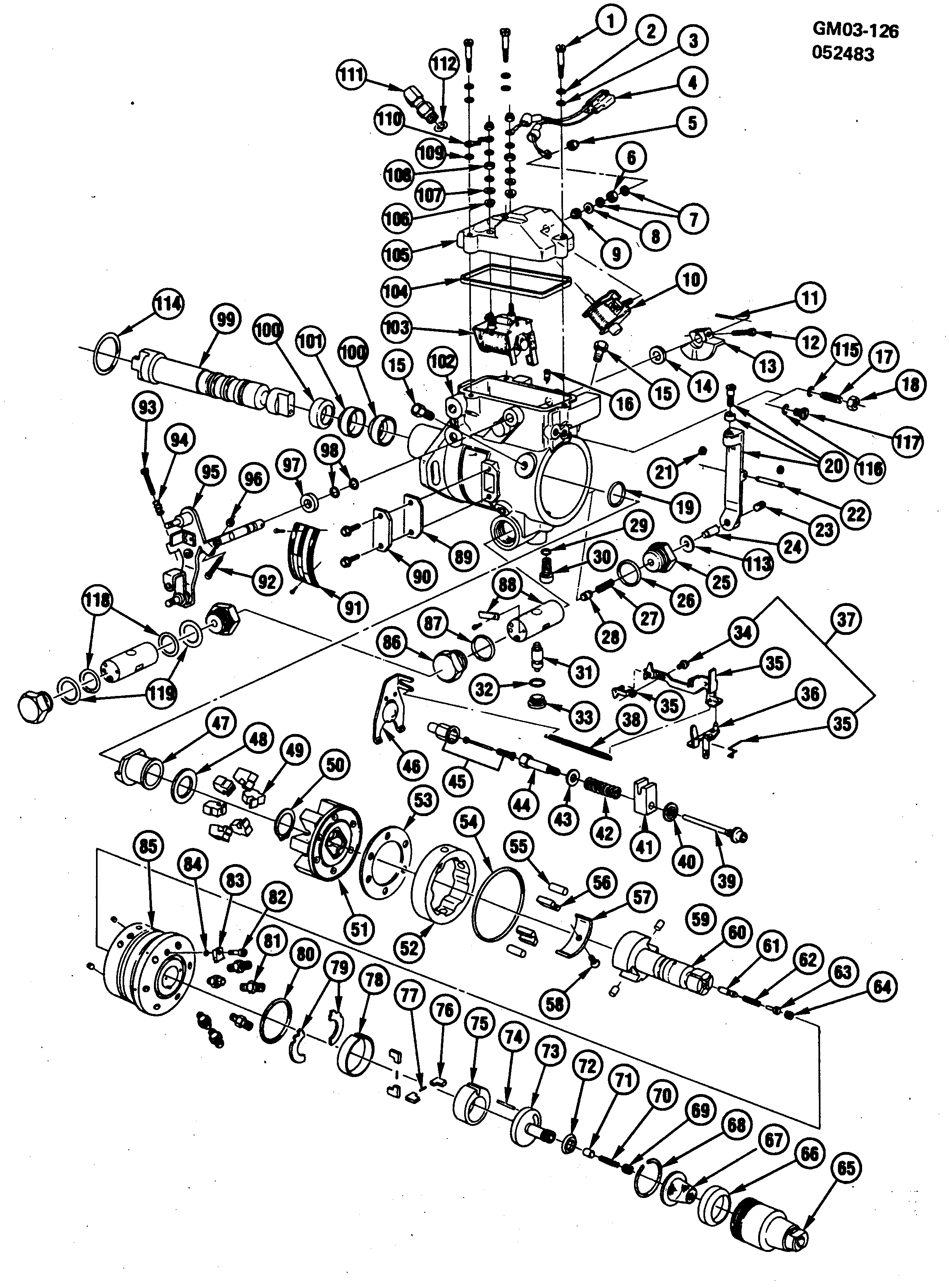 1978-1981 DIESEL INJECTION PUMP-TYPICAL (ROOSA-MASTER/STANADYNE)