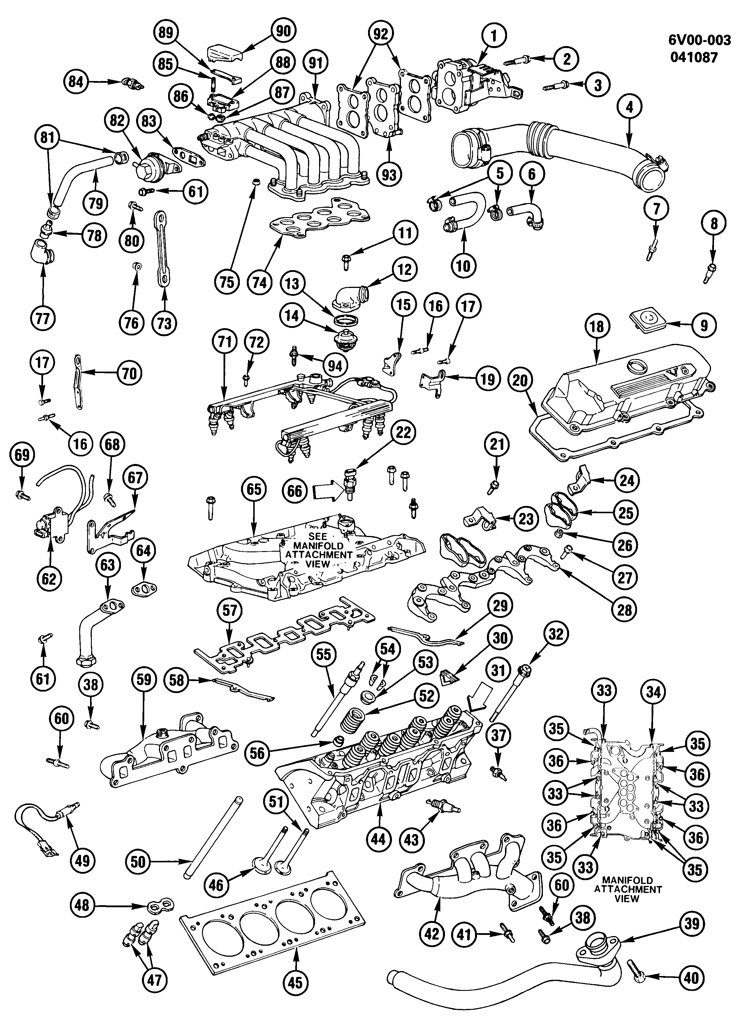 1987-1988 V ENGINE ASM-4.1L V8 PART 2 (LC7/4.1-7)