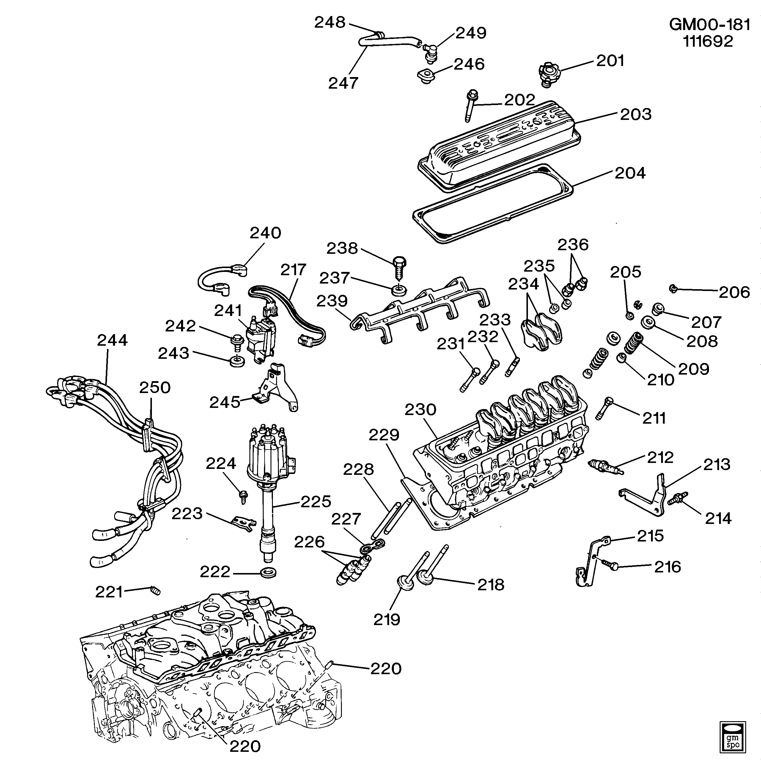 1991 Caprice Engine Diagram Trusted Wiring 1992 B Asm 5 0 7l V8 Part 2 Cylinder Head And Related