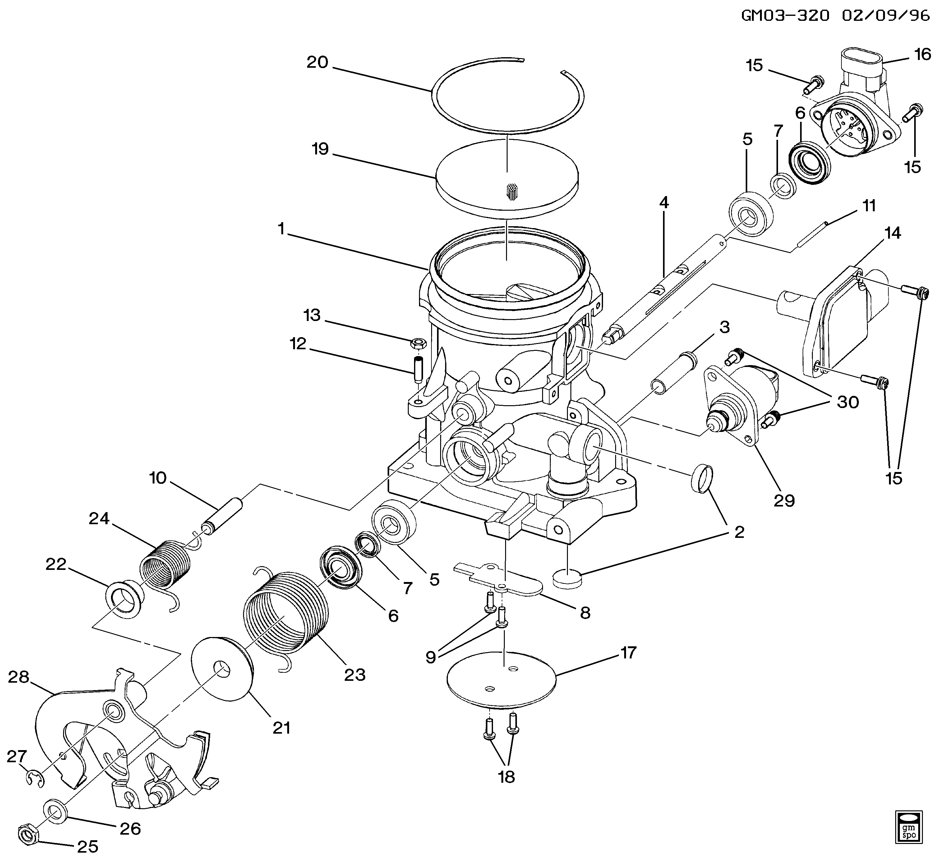 1997-1998 W THROTTLE BODY (L67/3.8-1)