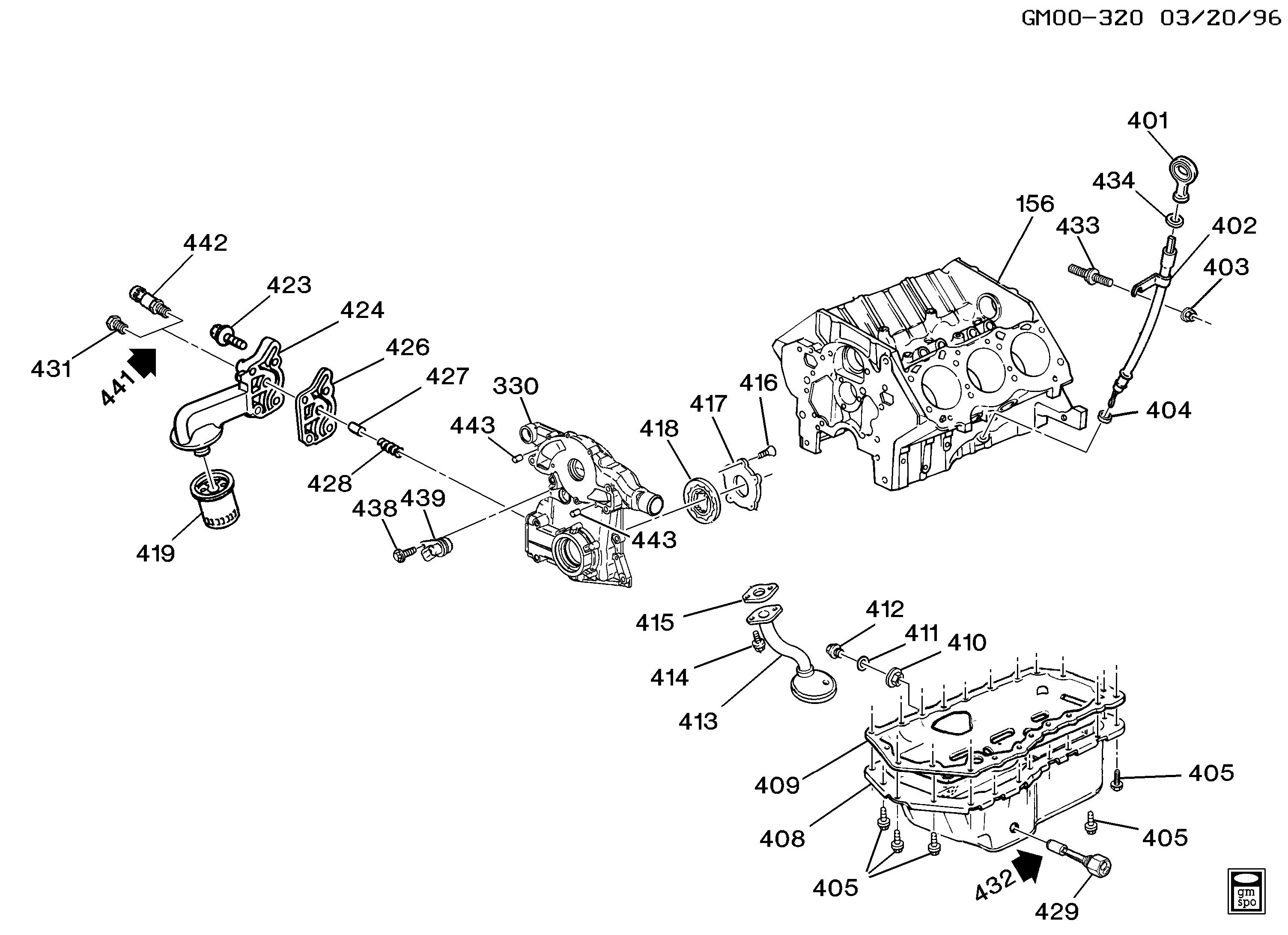 1997-1998 W ENGINE ASM-3.8L V6 PART 4 OIL PUMP, PAN AND RELATED PARTS (L67/3.8-1)