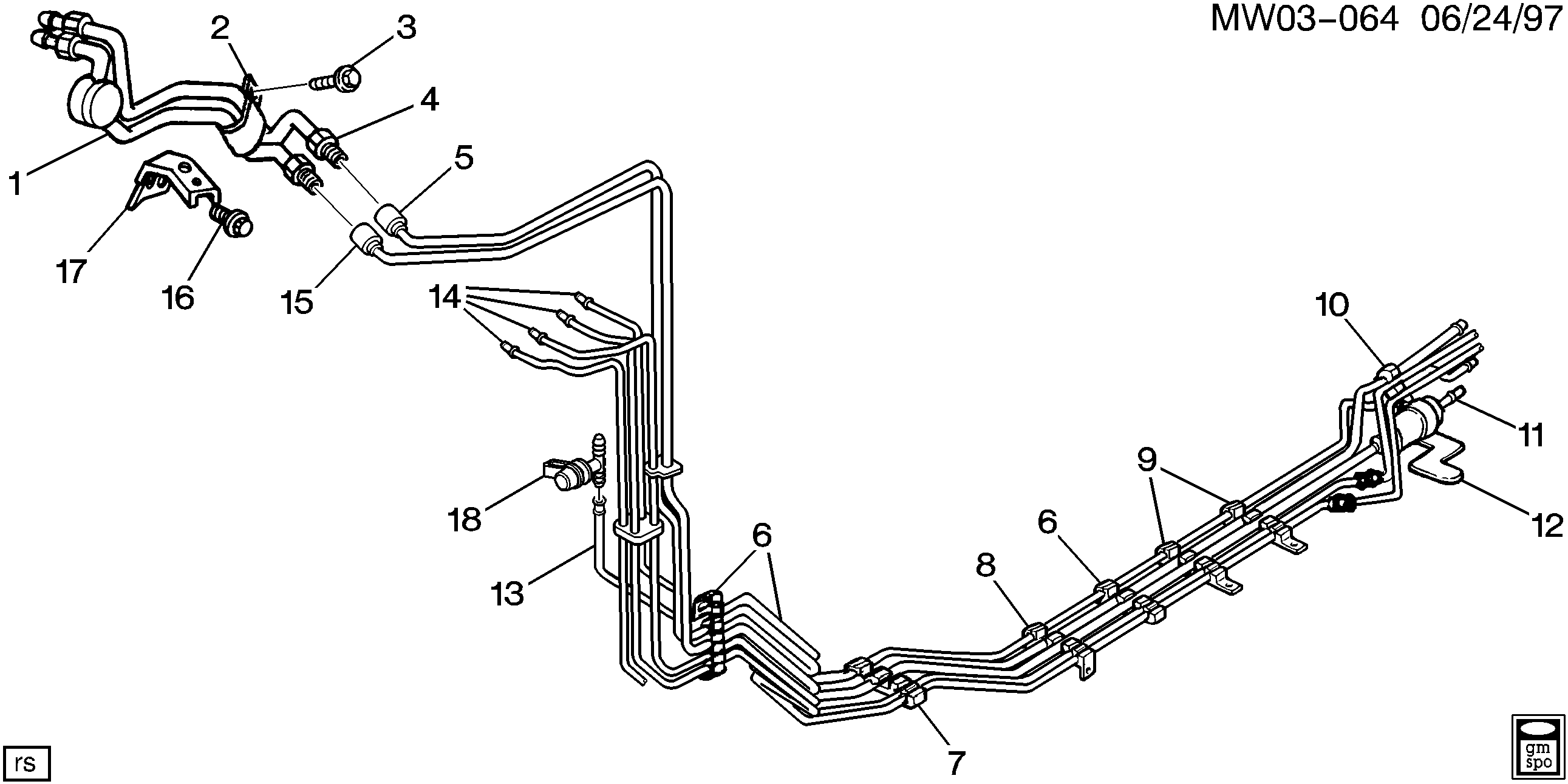 1997-1999 W FUEL SUPPLY SYSTEM-FUEL LINES (L82/3.1M)