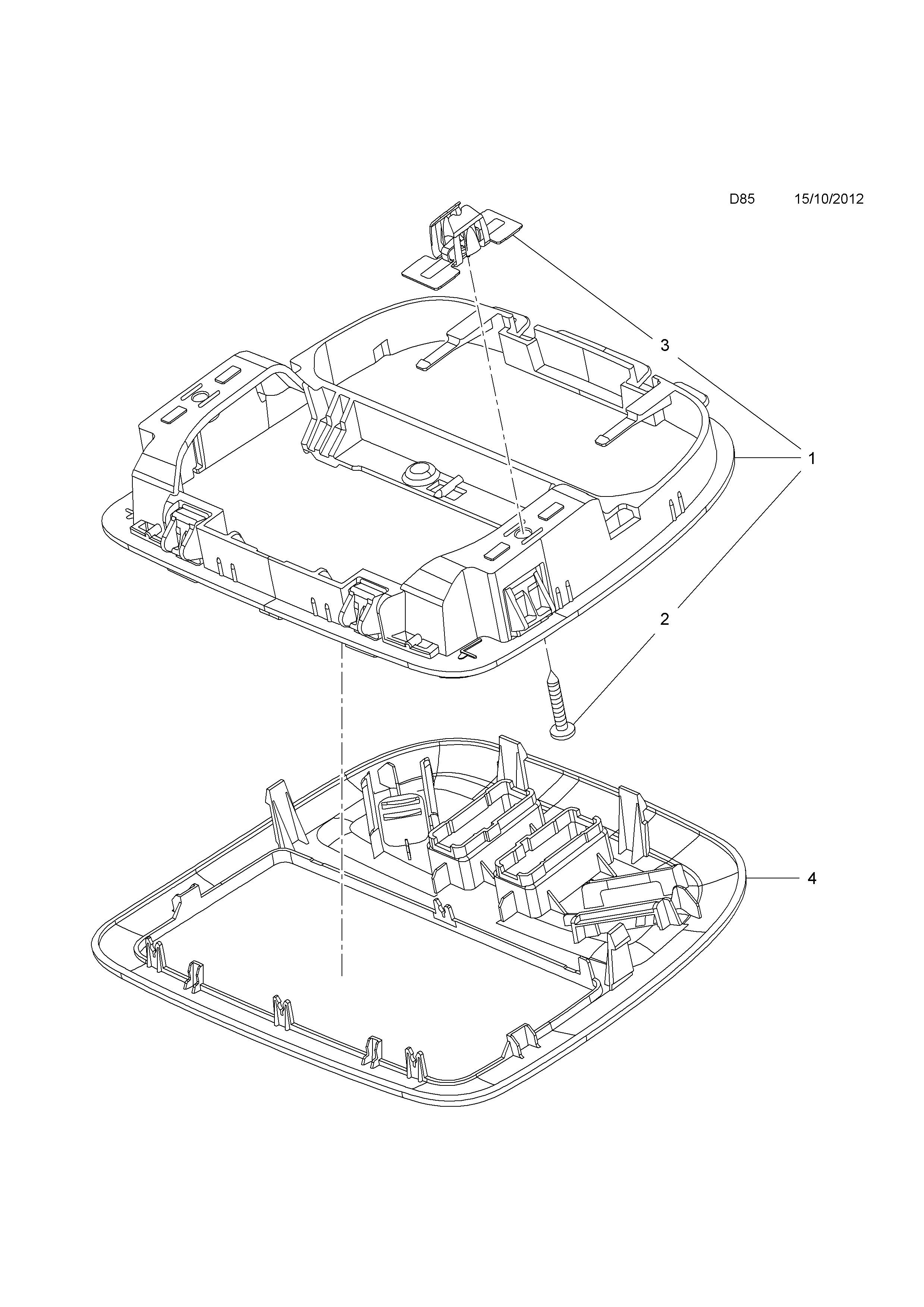 ROOF CONSOLE <small><i>[EXCEPT RETRACTABLE CANVAS ROOF]</i></small>