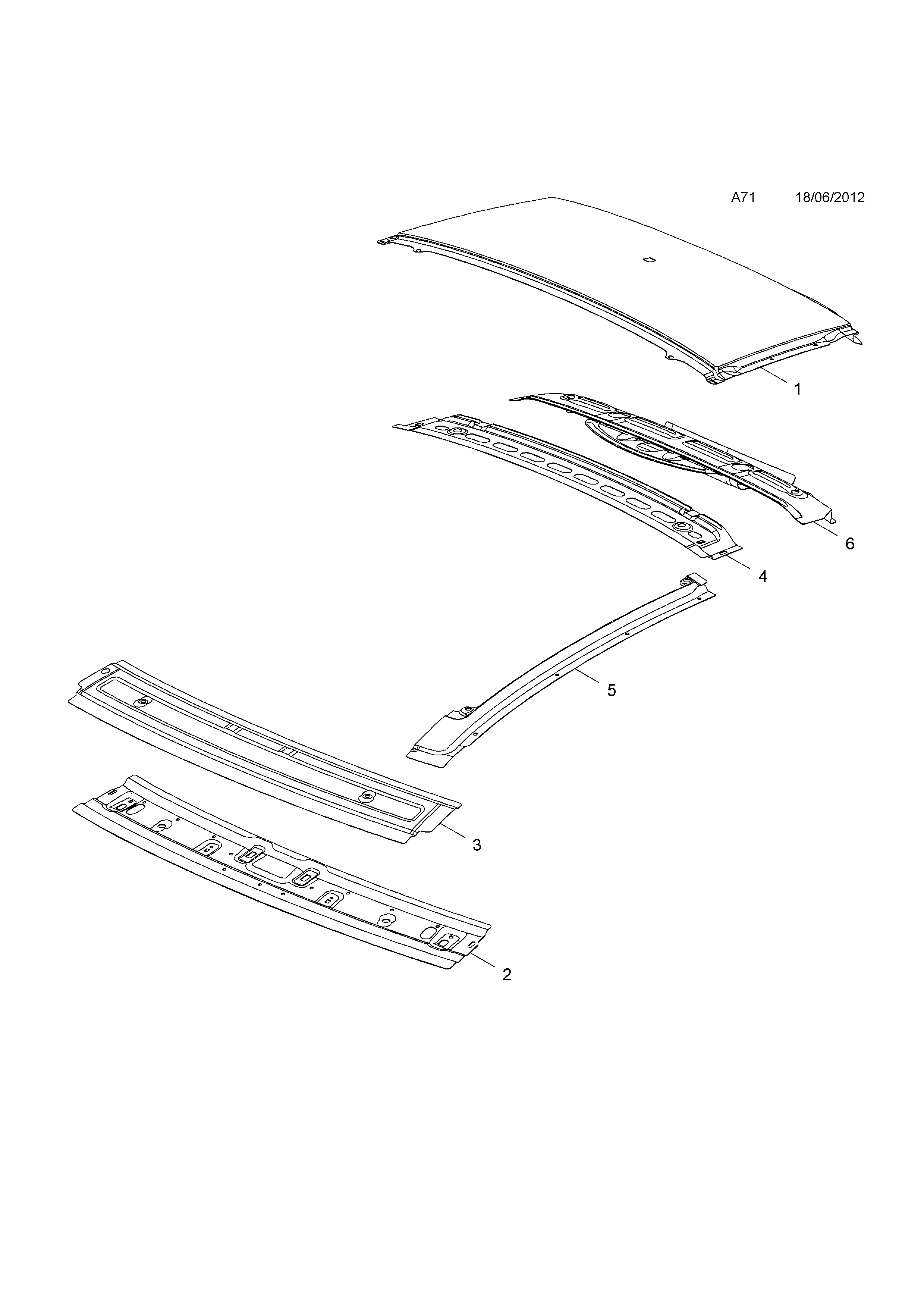 ROOF <small><i>[FOR FIXED GLASS SUNROOF,POC C06]</i></small>