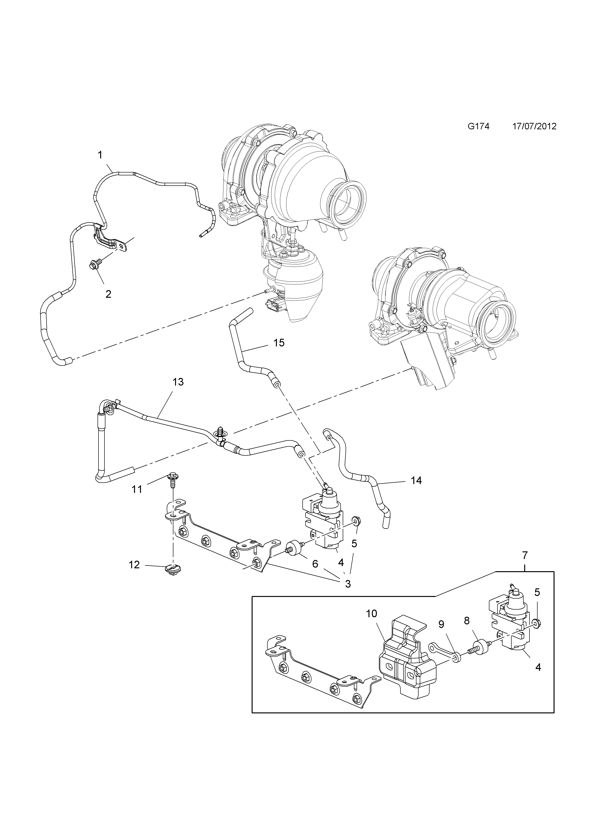 Turbocharger Vacuum System Vauxhall Zafira C Diagram