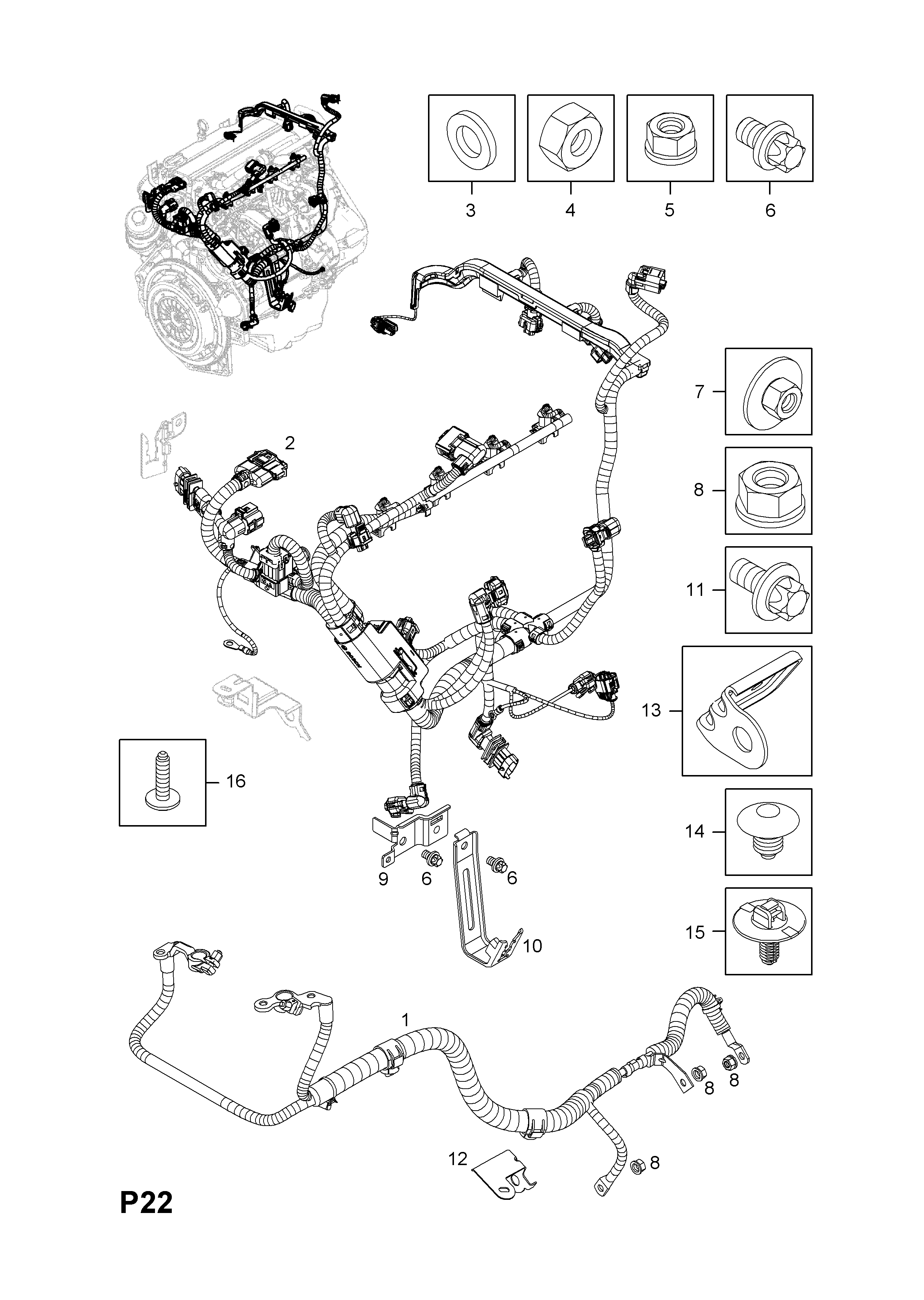 Engine Wiring Harness D Diagram For You All Opel Z12xep Lb4 Z14xep Lj2 Petrol Engines Rh Vauxhall 7zap Com Diy