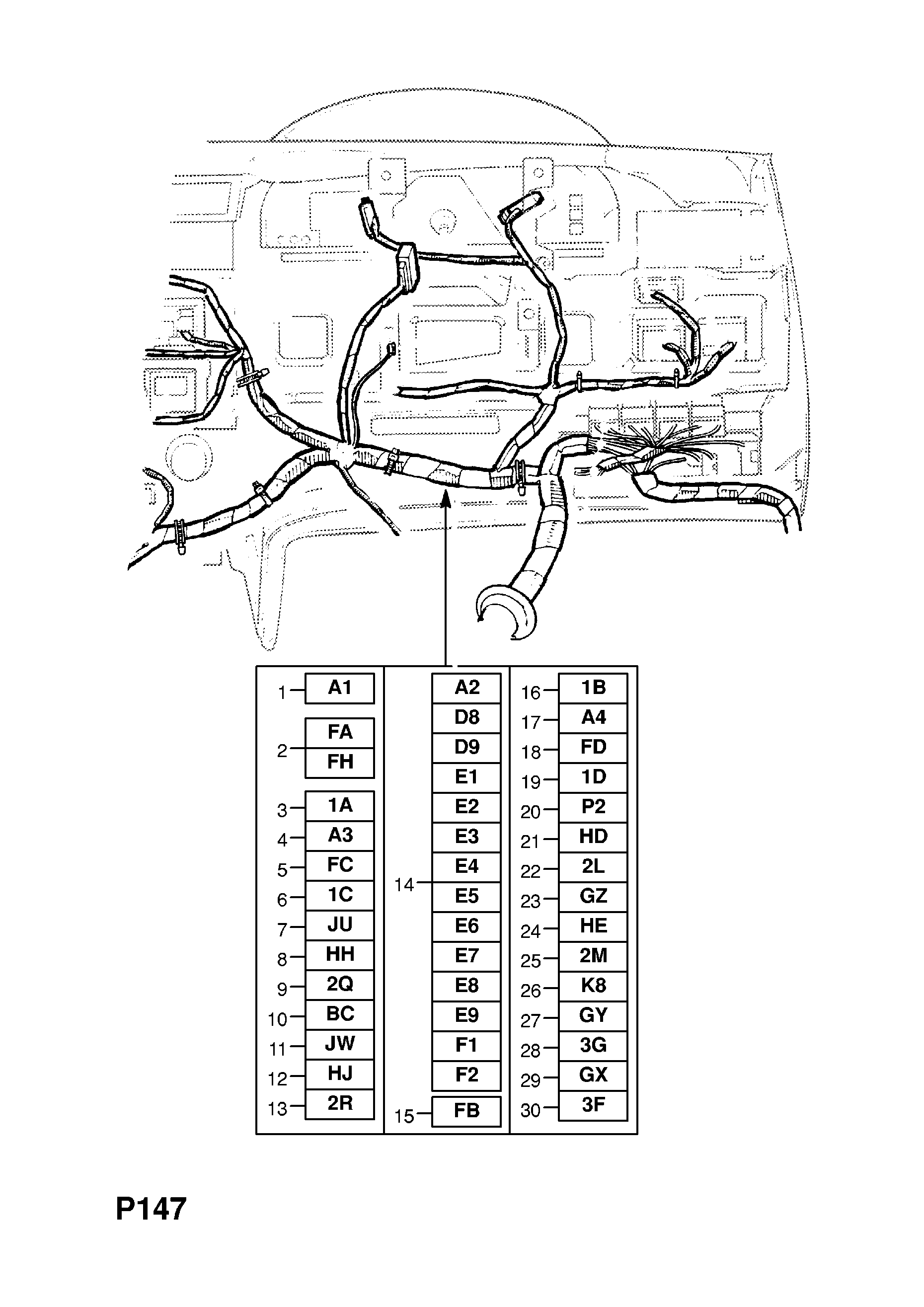 Instrument Panel Wiring Harness  Lhd