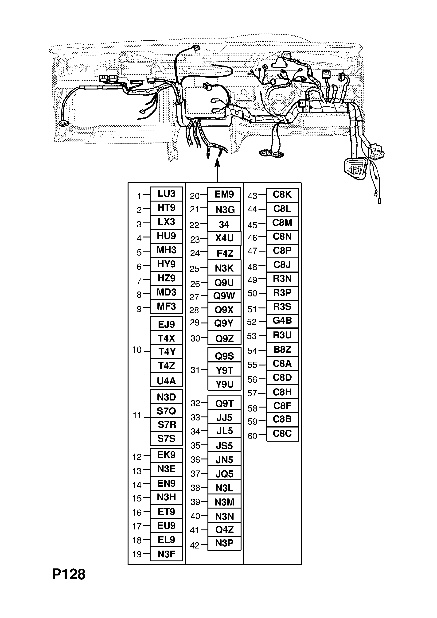 instrument panel wiring harness