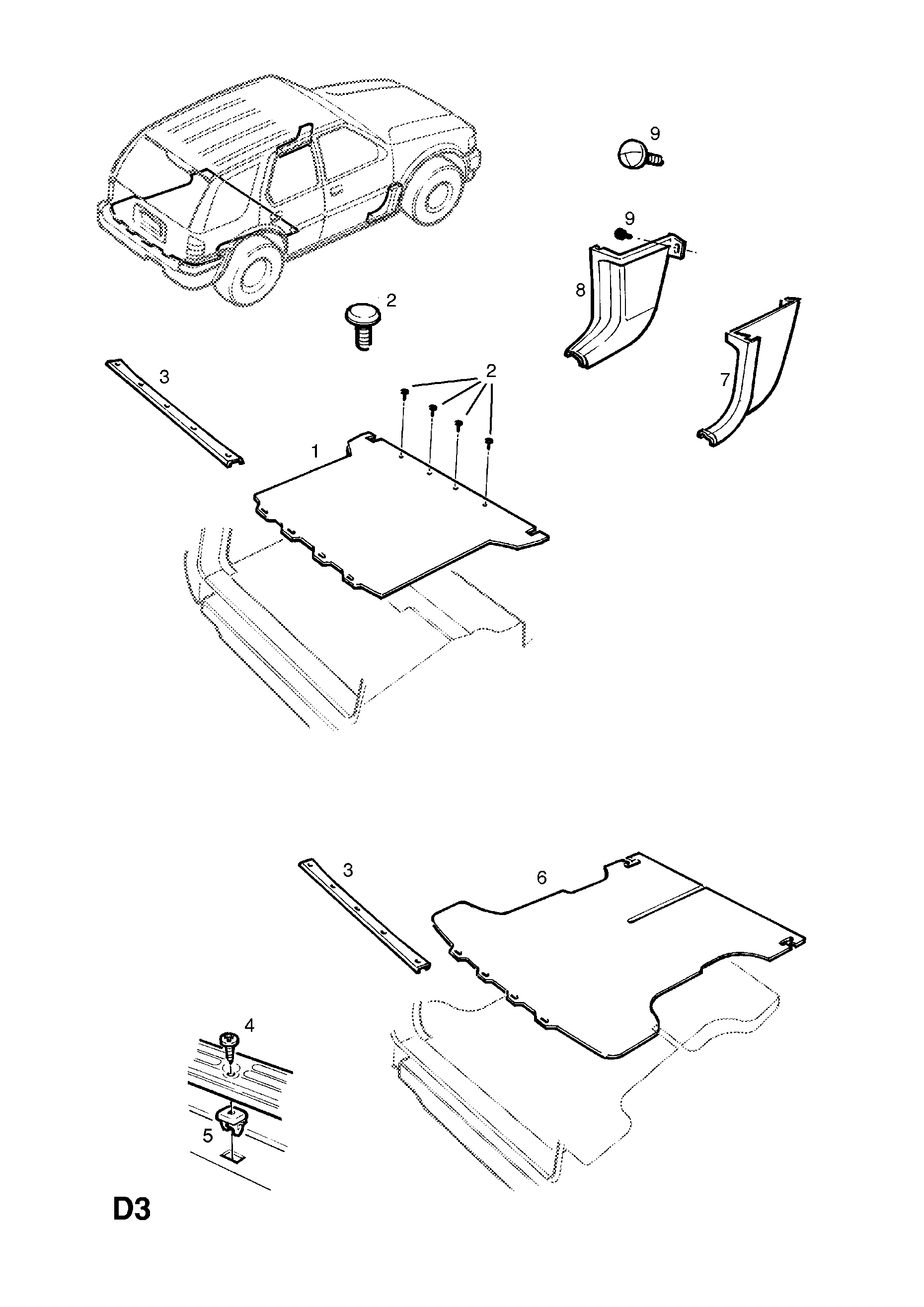 Basic Car Diagram Scuttle Detailed Schematic Diagrams Opel Frontera Wiring Trim B