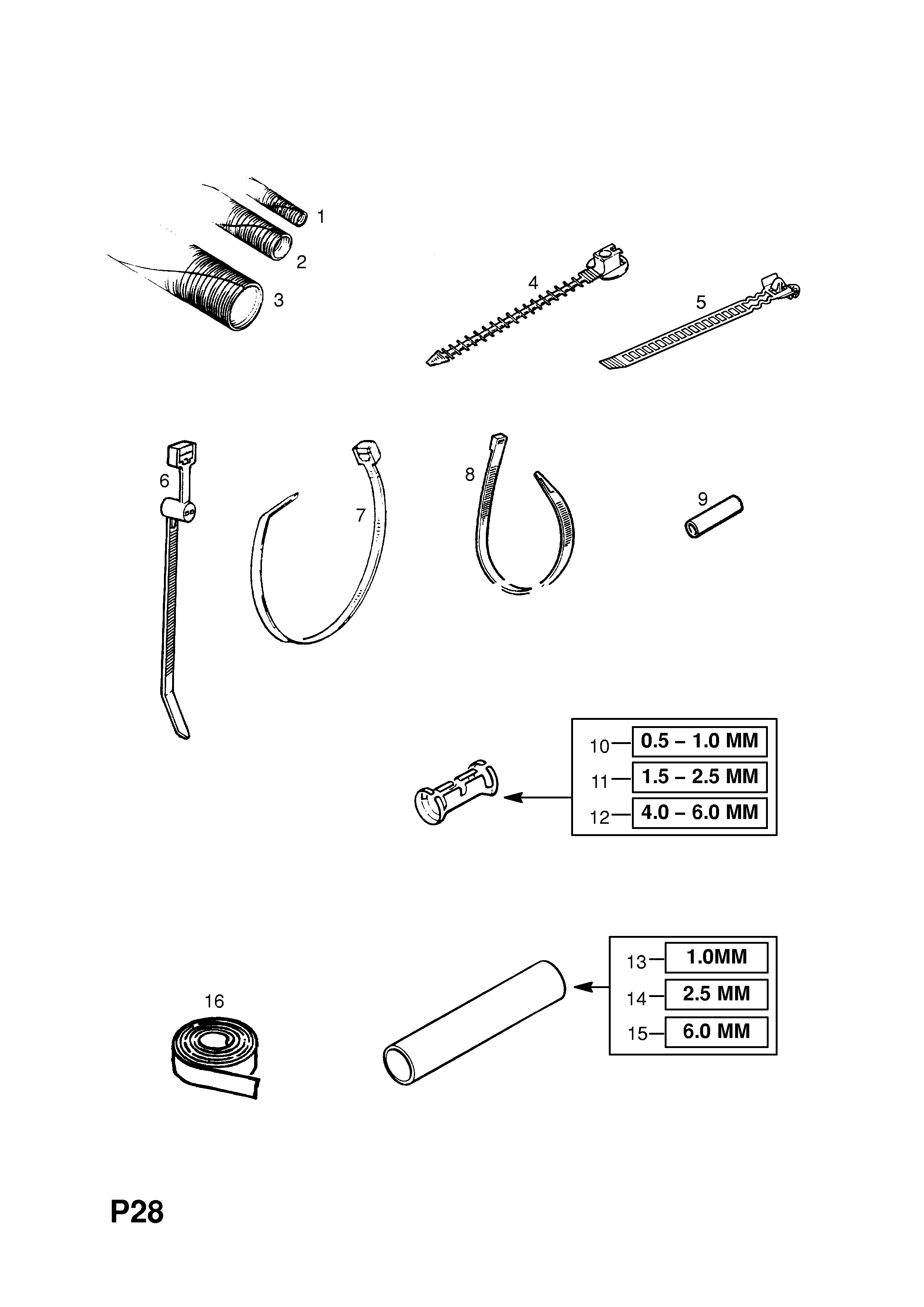 wiring harness repair kits opel tigra