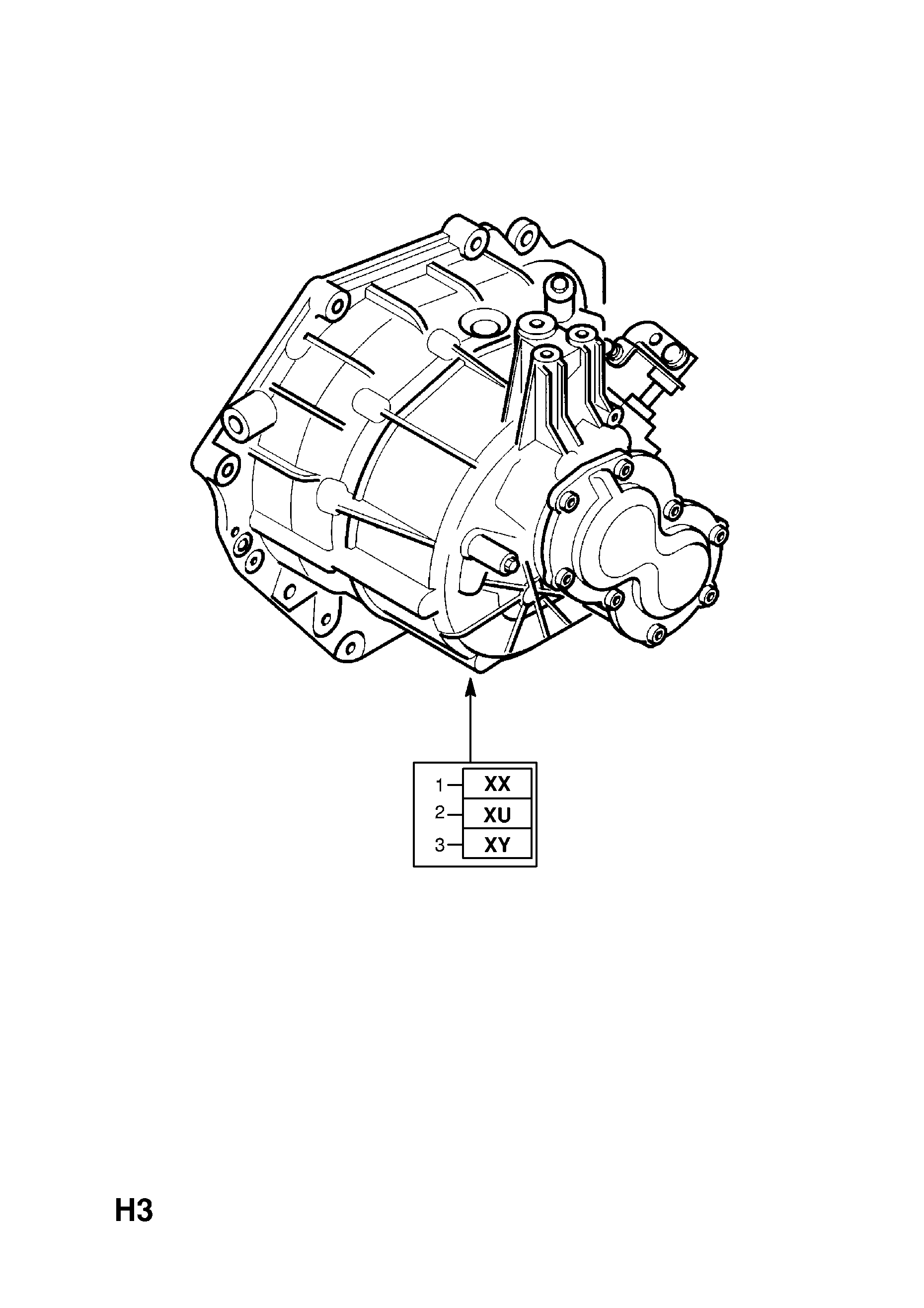 TRANSMISSION ASSEMBLY (EXCHANGE) [HATCH,SALOON (F68,F69) (FOR VAUXHALL)]  OPEL VECTRA-C