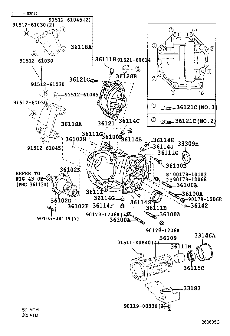rav4 transfer case diagram