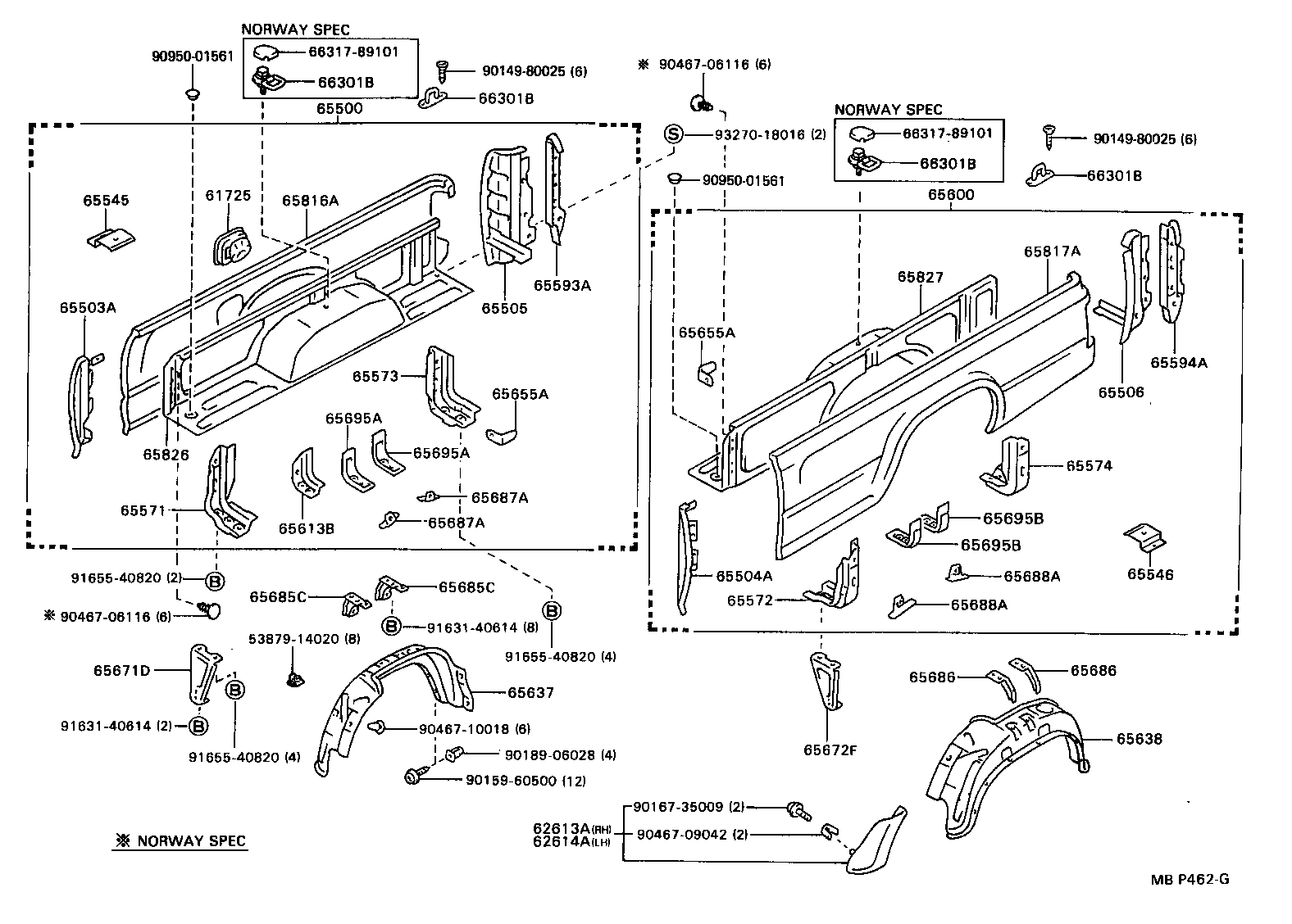 Toyota Hilux Ln85 Parts Manual 90 4runner Starter Wiring Diagram Mini