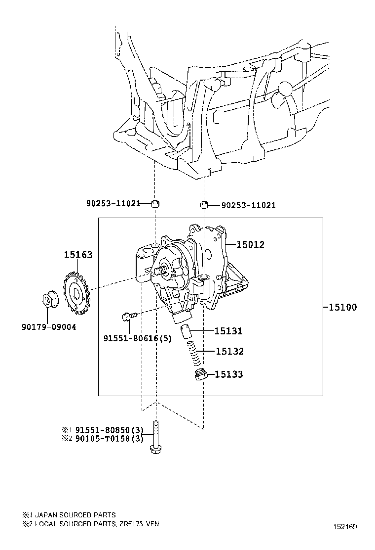 Engine Oil Pump 1403 17032zr3zrfbe 3zrfe Toyota Diagram Corolla Samericazre17 Asia And Middle East
